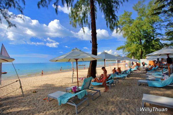 Catch Beach Club on Bang Tao Beach