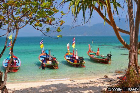 Longtail Boats on Bon island