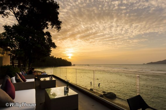 Fantastic sunset at Amari Phuket in Patong Beach