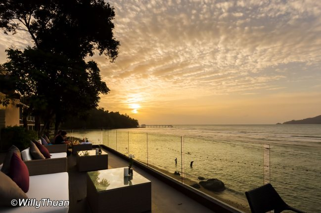 Fantastic sunset at Amari Phuket in Patong Beach