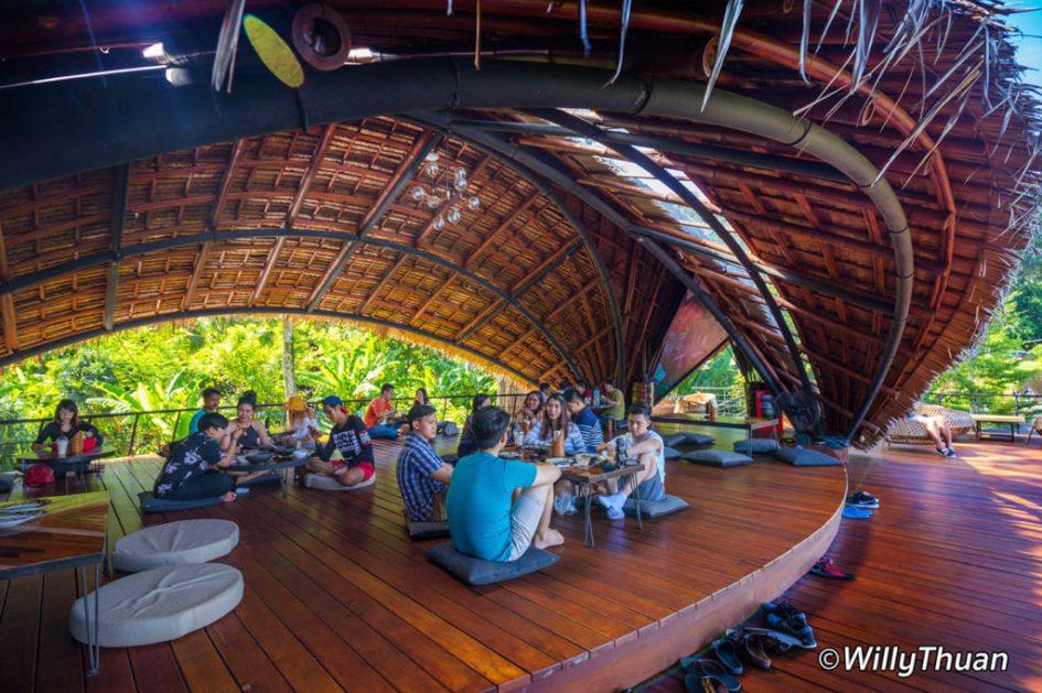 Main dining area at Three Monkeys Phuket