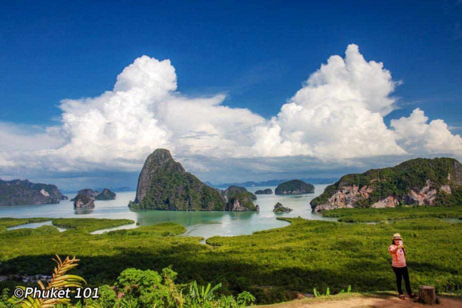 Samet Nangshe Viewpoint - View of Phang Nga Bay