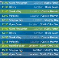 Aquaria feeding schedule