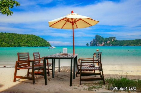 A restaurant on Loh Dalum Beach in Phi Phi Island