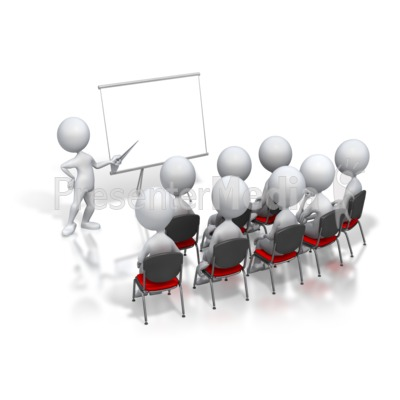 Stick Figure Presenter Meeting  Education and School