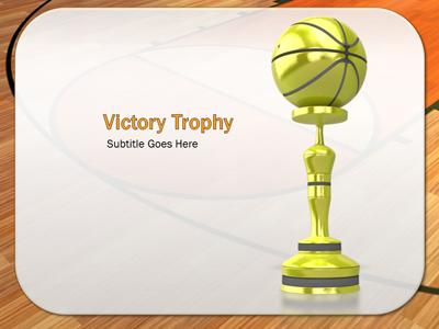 Basketball Court - A PowerPoint Template from PresenterMedia.com