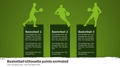 Basketball Playbook - A PowerPoint Template from PresenterMedia.com