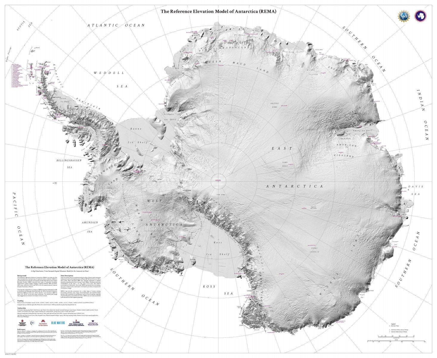 hight resolution of reference elevation model of antarctica