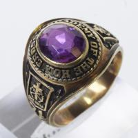 10kt Gold 7g Class Ring With Purple Stone | Property Room