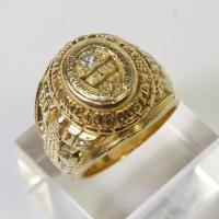 14kt Gold 20g Diamond University Of Texas Balfour Class ...