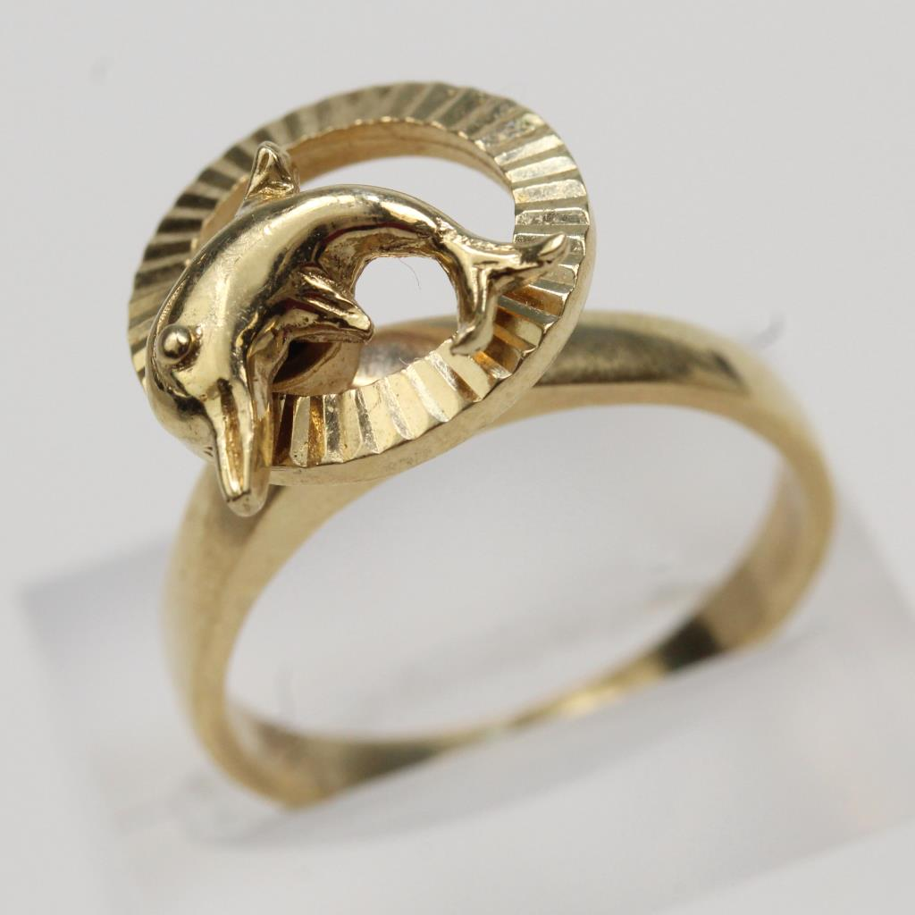 14kt Gold 5.2g Dolphin Shaped Ring