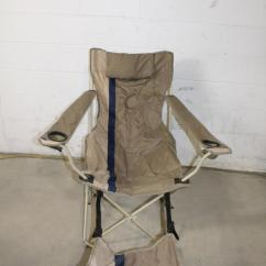 Folding Chair With Footrest Natural Wood Ozark Trail Property Room Image 1 Of 3