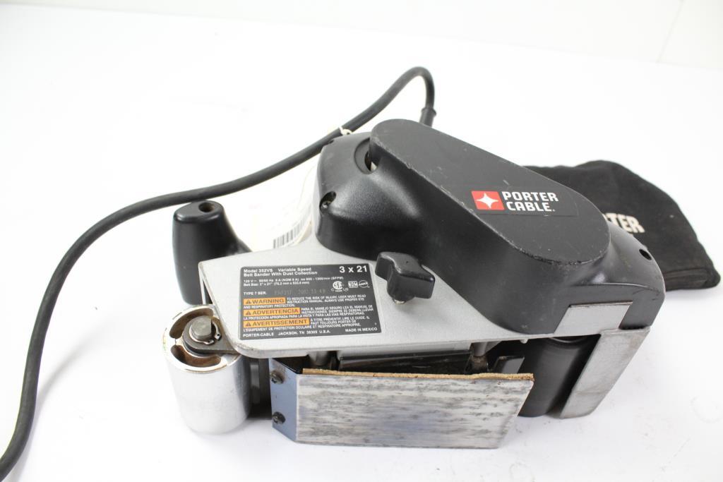 Porter Cable Model 352vs Belt Sander