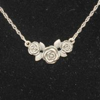 Silver 5.2g James Avery Rose Necklace