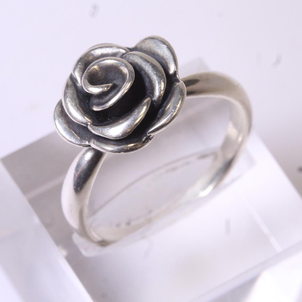 Silver 5.6g James Avery Rose Ring