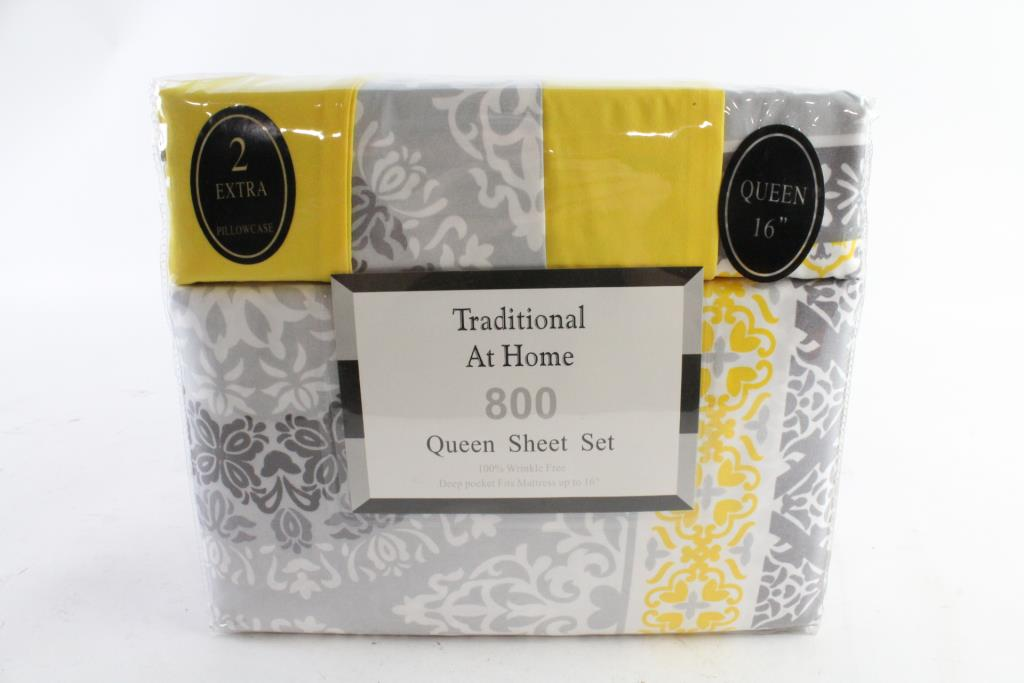 traditional at home 6 piece queen sheet