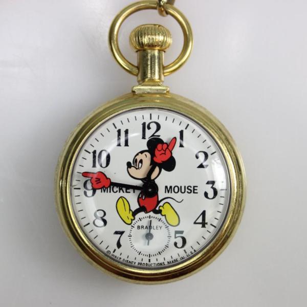 Vintage 1970s Bradley Mickey Mouse Pocket Watch Property