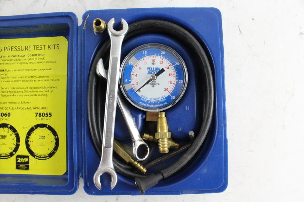 Yellow Jacket Gas Pressure Test Kit   Property Room
