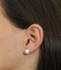 Bulk Jewelry PLUS New 8mm White Pearl Earrings | Property Room