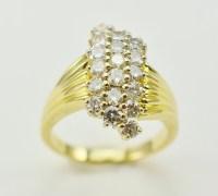 14K Yellow Gold 5.84 Grams 1.00 Carat t.w. Diamond Dinner ...
