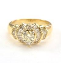 14K Yellow Gold 7.09 Grams 0.70 Carat t.w. Diamond ...