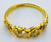 10K Yellow Gold Diamond Heart Shape Lady's Ring | Property ...