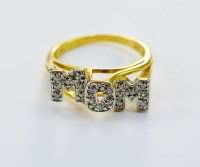 "10K Yellow Gold Diamond ""MOM"" Ring 