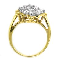 14K Yellow Gold 5.45 Grams 0.90 Ct t.w. Diamond Cluster ...