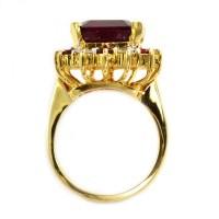 $7,345 Retail 14K Yellow Gold Elegant Large Diamond ...