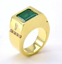 18K Yellow Gold 39.0 Grams 0.60 Carat t.w. Diamond Men's ...