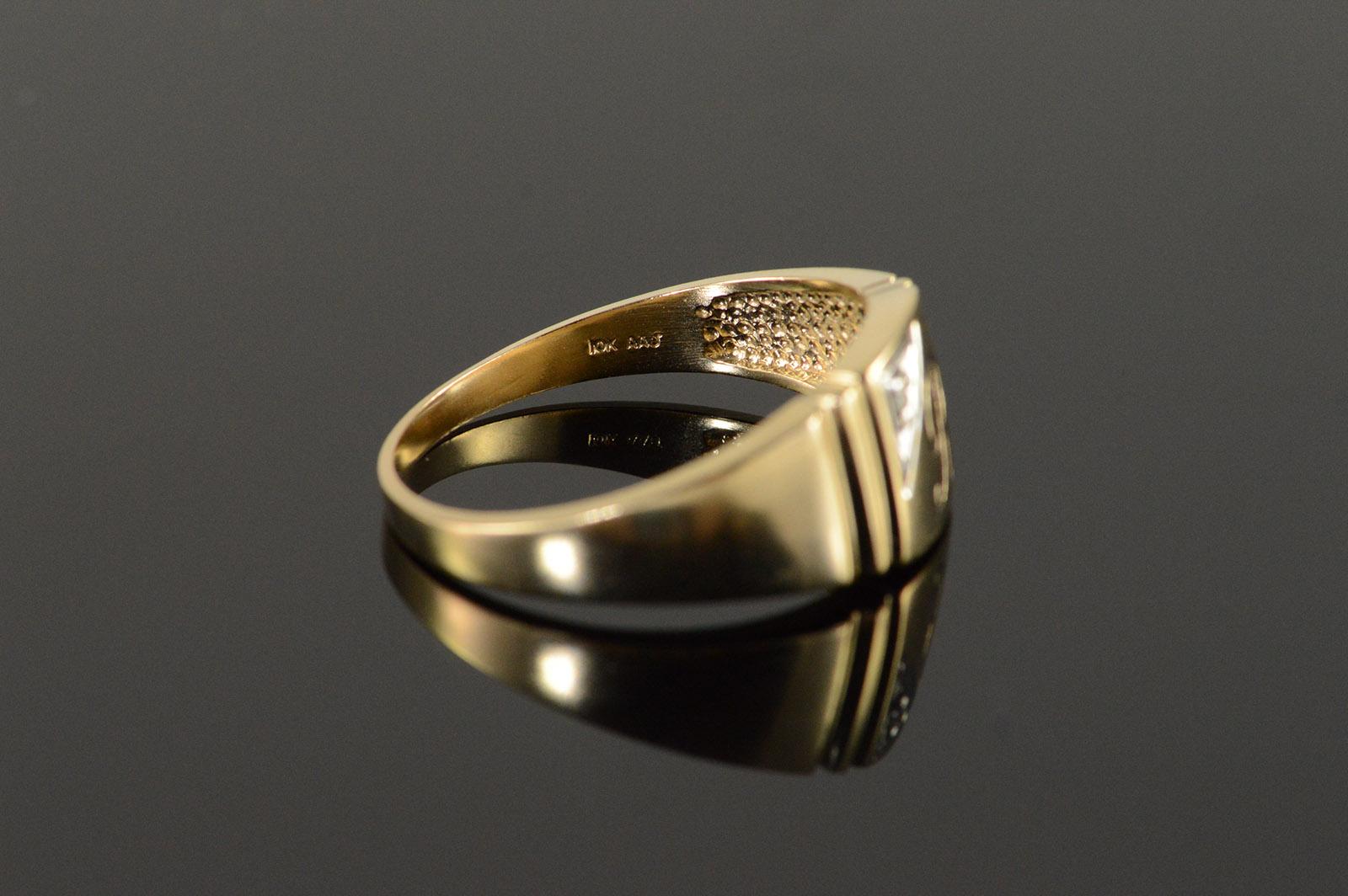 diamond monogram ring