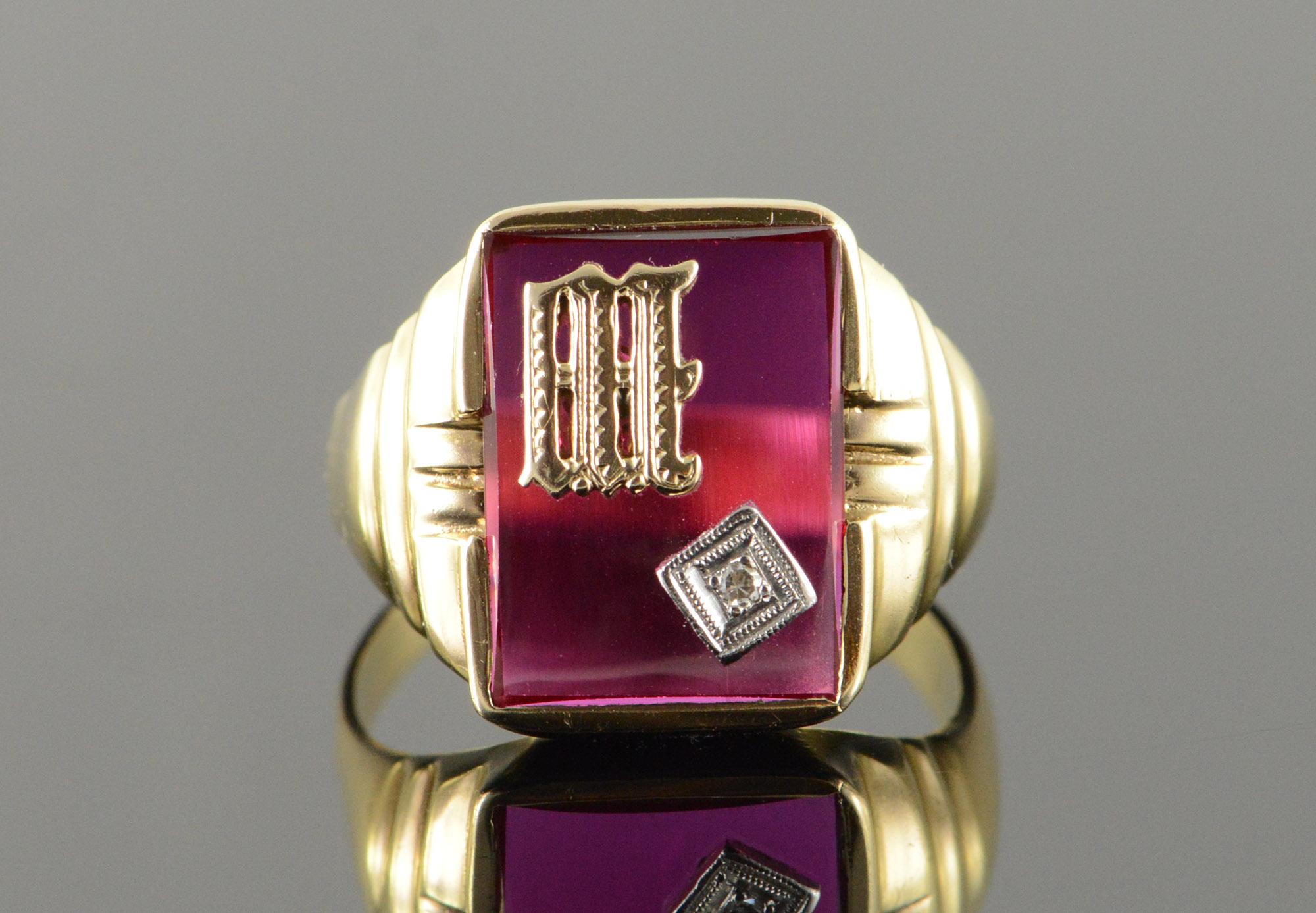 monogram rings gold