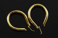 14K Large Hollow Hoop Yellow Gold Earrings | Property Room