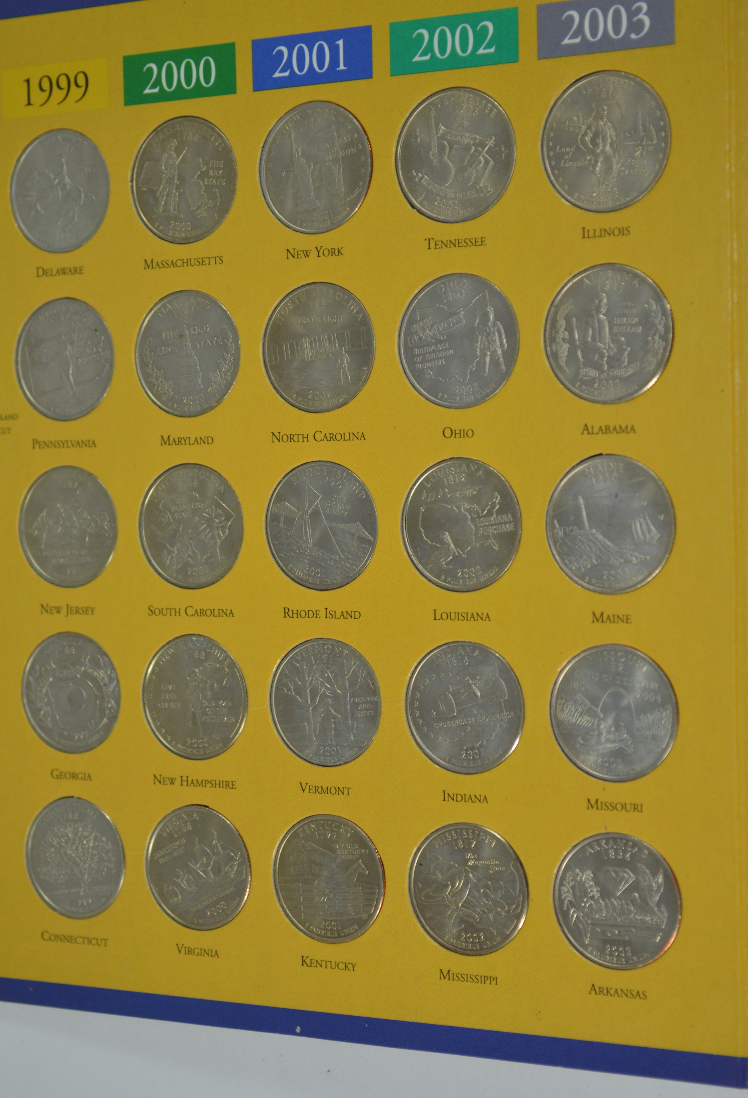 Us Map For State Quarters Amazoncom State Quarter Map Us State - Us map for quarters