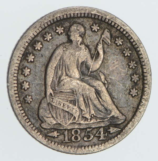Great Detail Dime - 1854 Seated Liberty