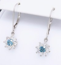 Blue and White Diamond Earrings | Property Room
