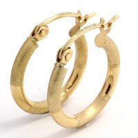 10k Yellow Gold Hoop Earrings | Property Room