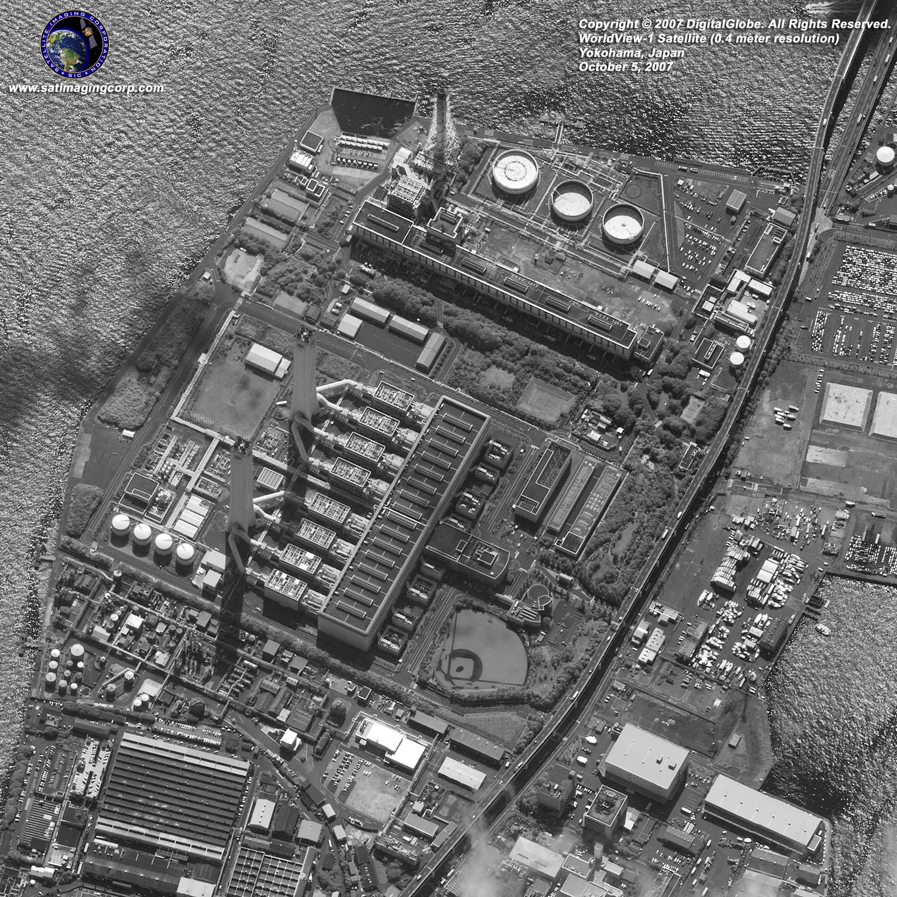Satellite Image  Yokohama Japan  WorldView1