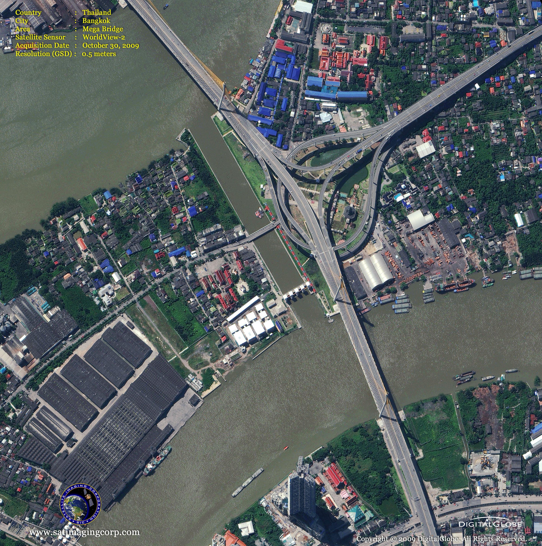 bangkok map and bangkok satellite image