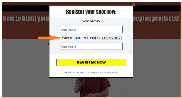 Affiliate Trax registration box