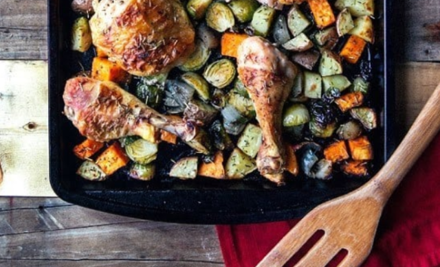 Sheet Pan Roast Chicken Dinner