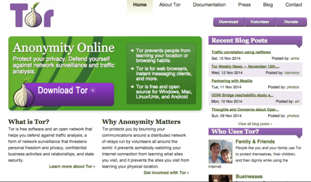 Tor home page