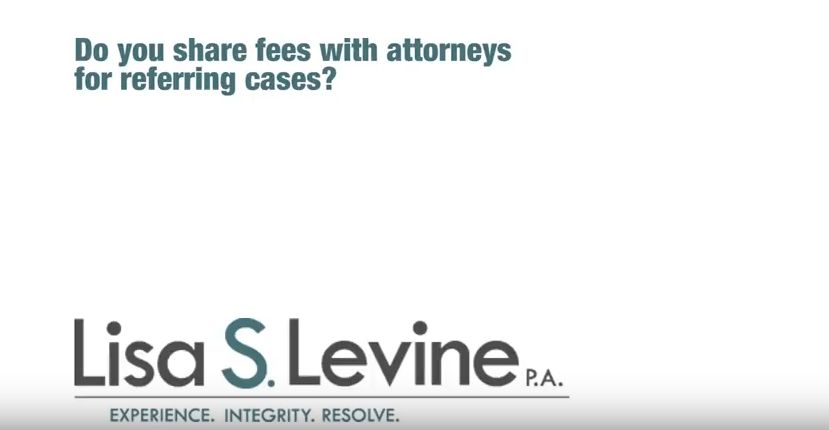 Do you share fees with attorneys for referring cases?