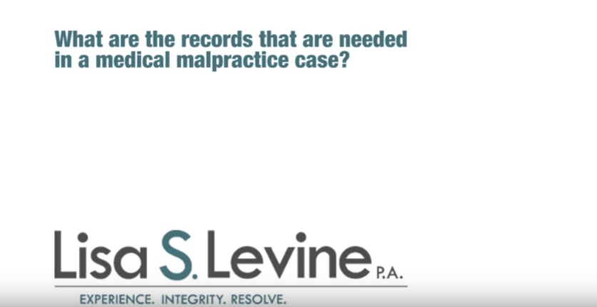 What are the records that are needed in a medical malpractice case?