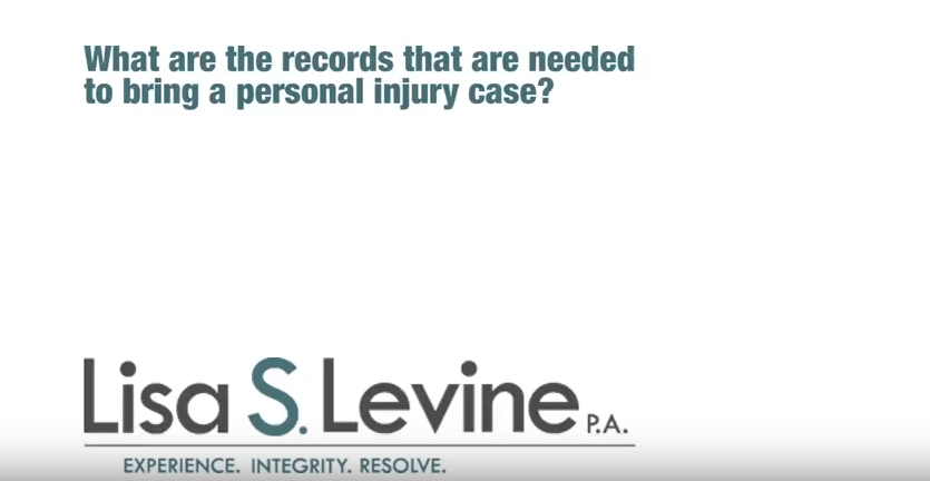 What are the records that are needed to bring a personal injury case?