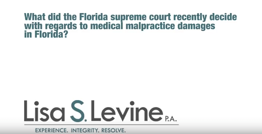 Recent Florida Supreme Court medical malpractice decisions, 2014