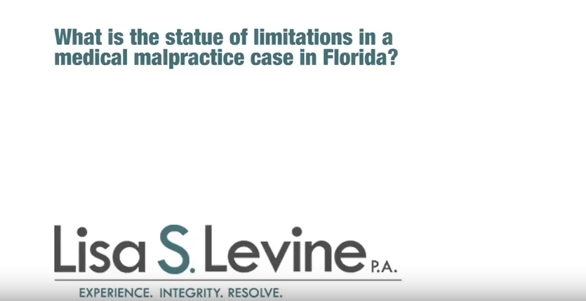 What is the statue of limitations in a medical malpractice case in Florida?