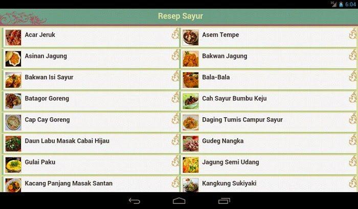 aplikasi masakan sederhana