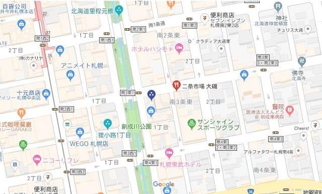二条市場地圖