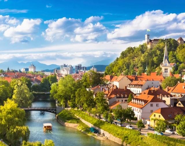 Panorama of Ljubljana, Slovenia